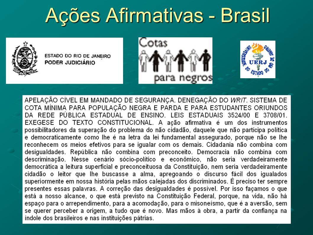Ações Afirmativas - Brasil