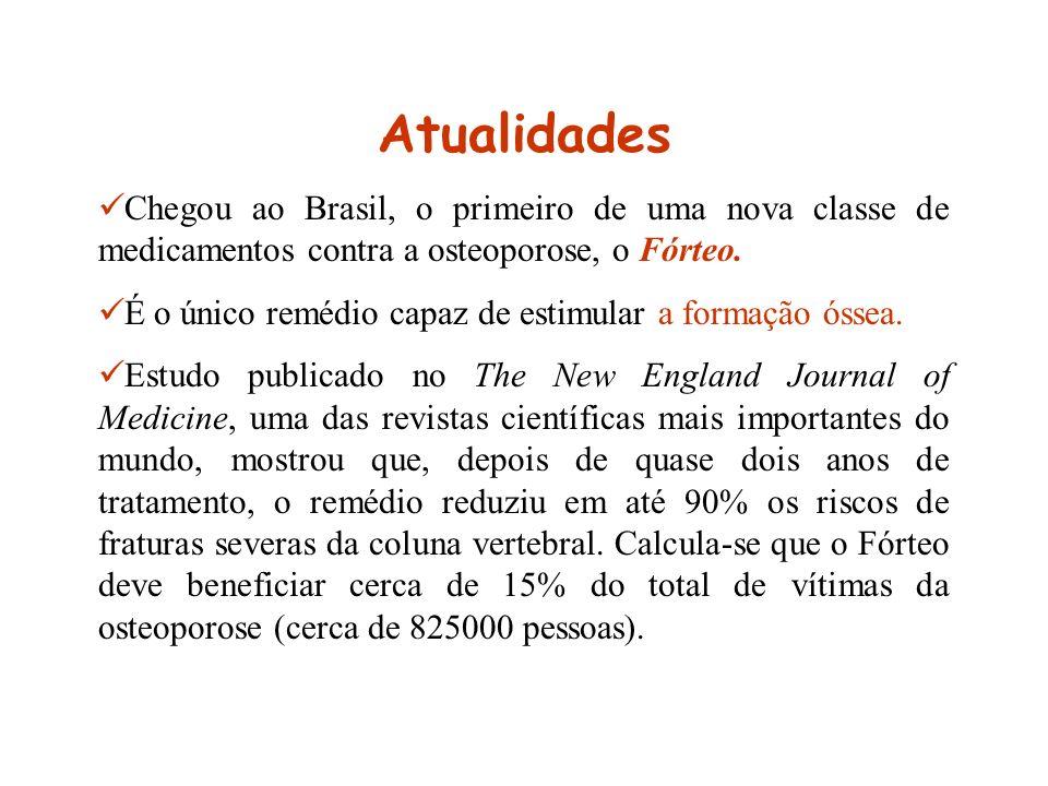 Atualidades Chegou ao Brasil, o primeiro de uma nova classe de medicamentos contra a osteoporose, o Fórteo. É o único remédio capaz de estimular a for
