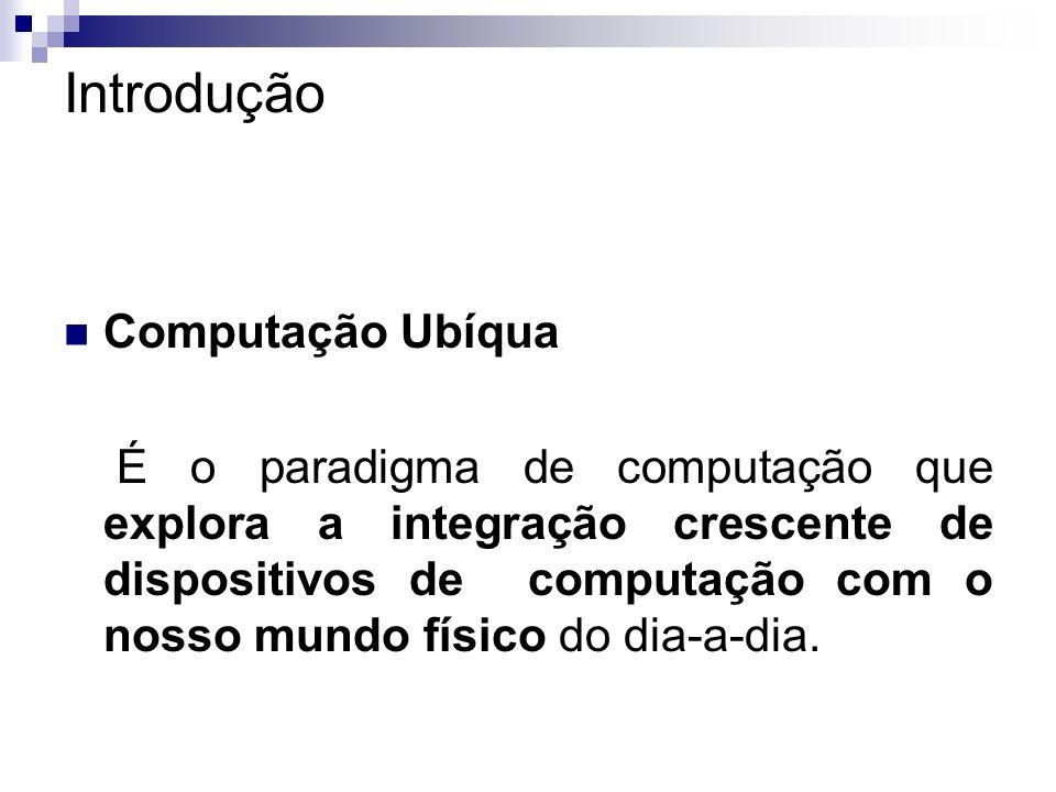 Introdução Computação Ubíqua É o paradigma de computação que explora a integração crescente de dispositivos de computação com o nosso mundo físico do