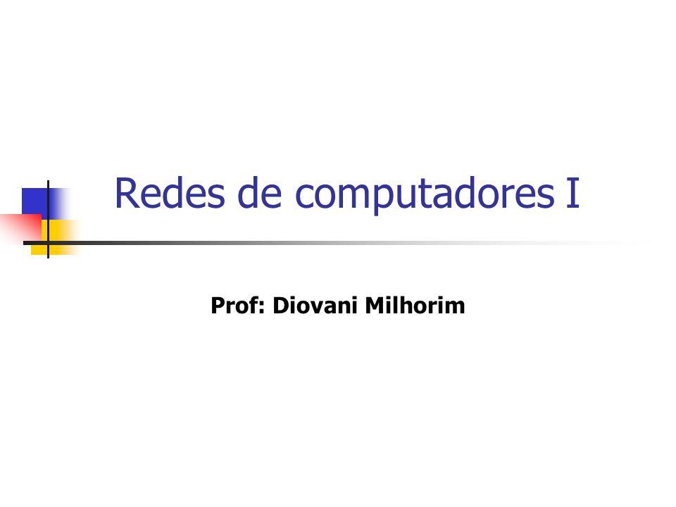 Redes de computadores I Prof: Diovani Milhorim