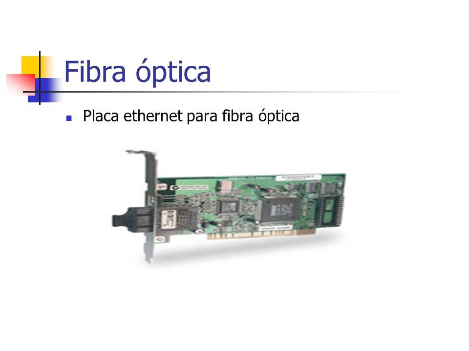 Placa ethernet para fibra óptica