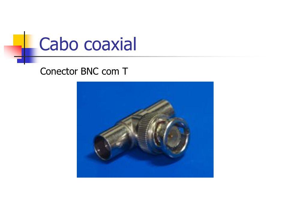 Cabo coaxial Conector BNC com T