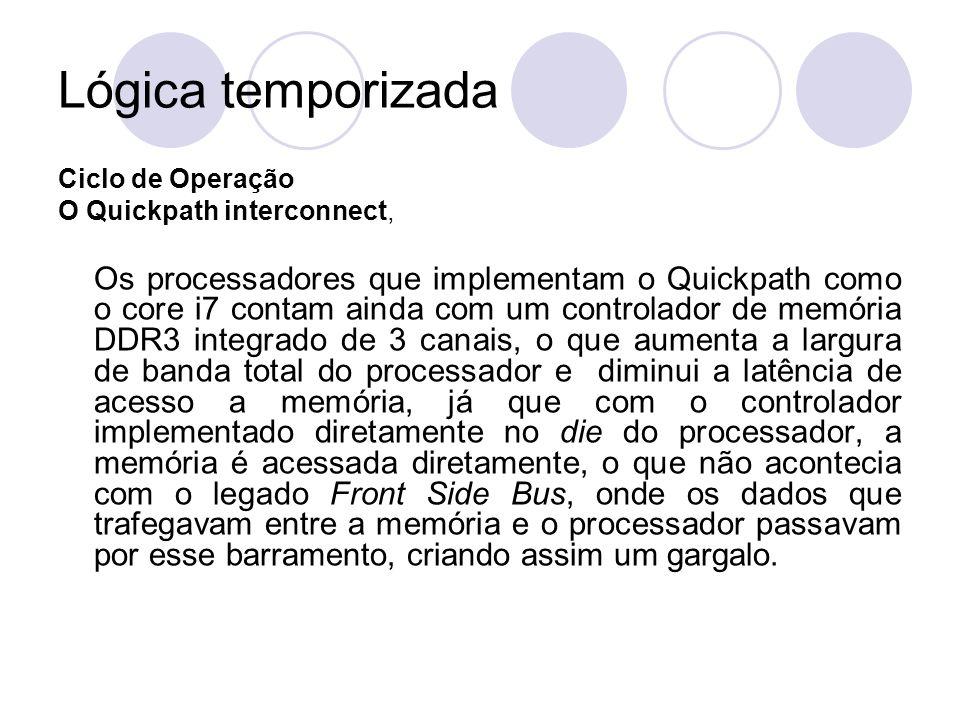 Lógica temporizada Ciclo de Operação O Quickpath interconnect, Os processadores que implementam o Quickpath como o core i7 contam ainda com um control