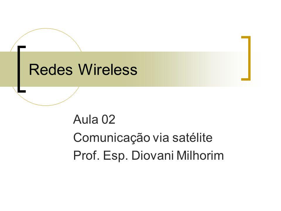 Redes Wireless Aula 02 Comunicação via satélite Prof. Esp. Diovani Milhorim