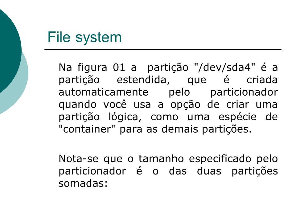 File system Na figura 01 a partição