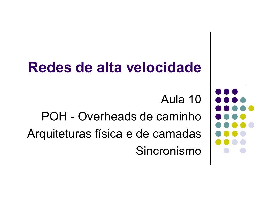 Redes de alta velocidade Aula 10 POH - Overheads de caminho Arquiteturas física e de camadas Sincronismo