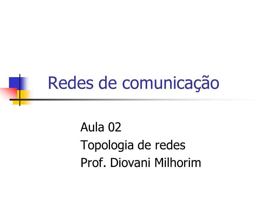 Redes de comunicação Aula 02 Topologia de redes Prof. Diovani Milhorim