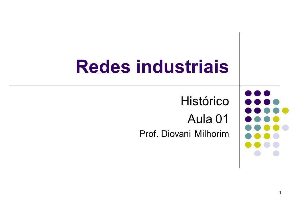 1 Redes industriais Histórico Aula 01 Prof. Diovani Milhorim