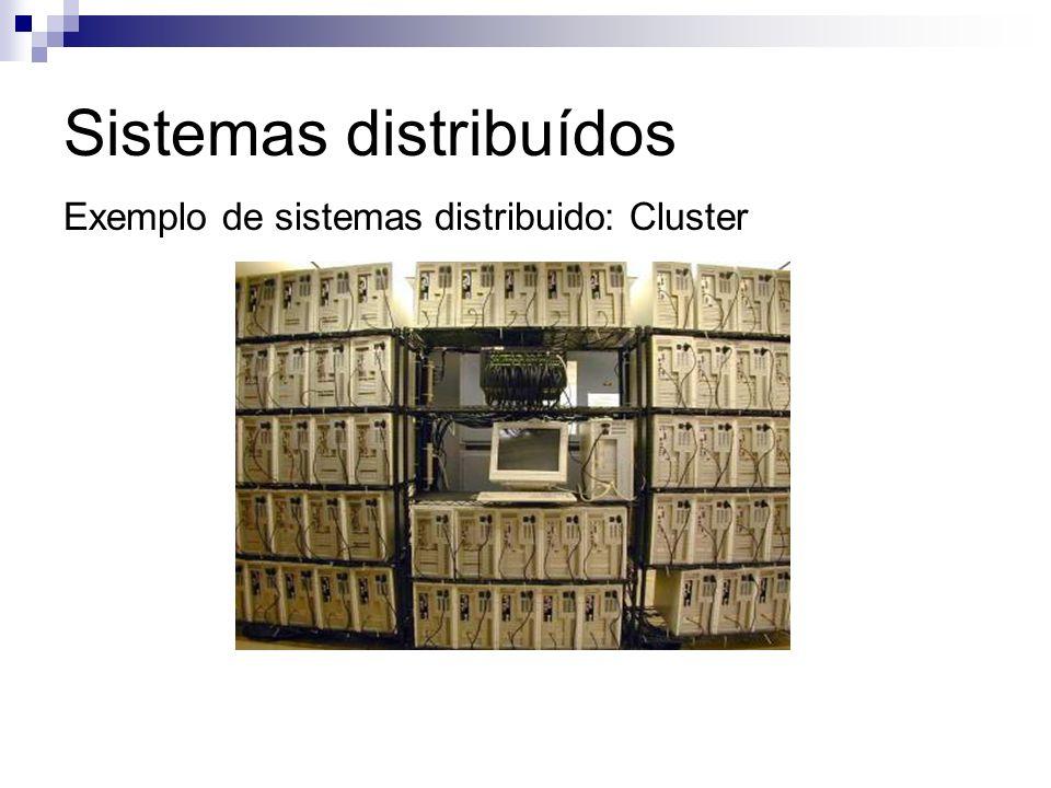 Sistemas distribuídos Exemplo de sistemas distribuido: Cluster