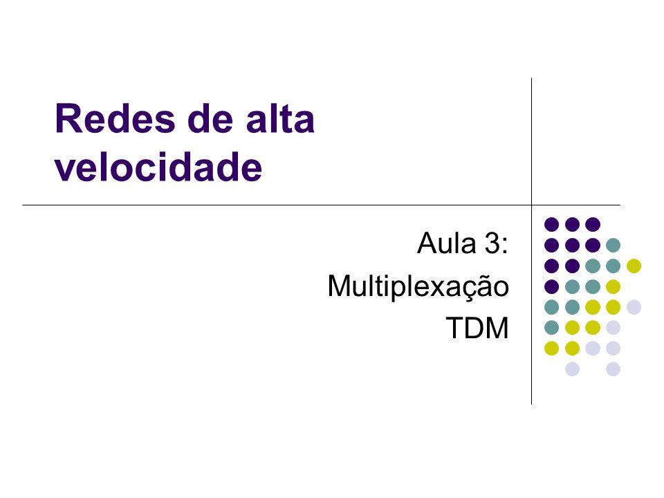 Redes de alta velocidade Aula 3: Multiplexação TDM