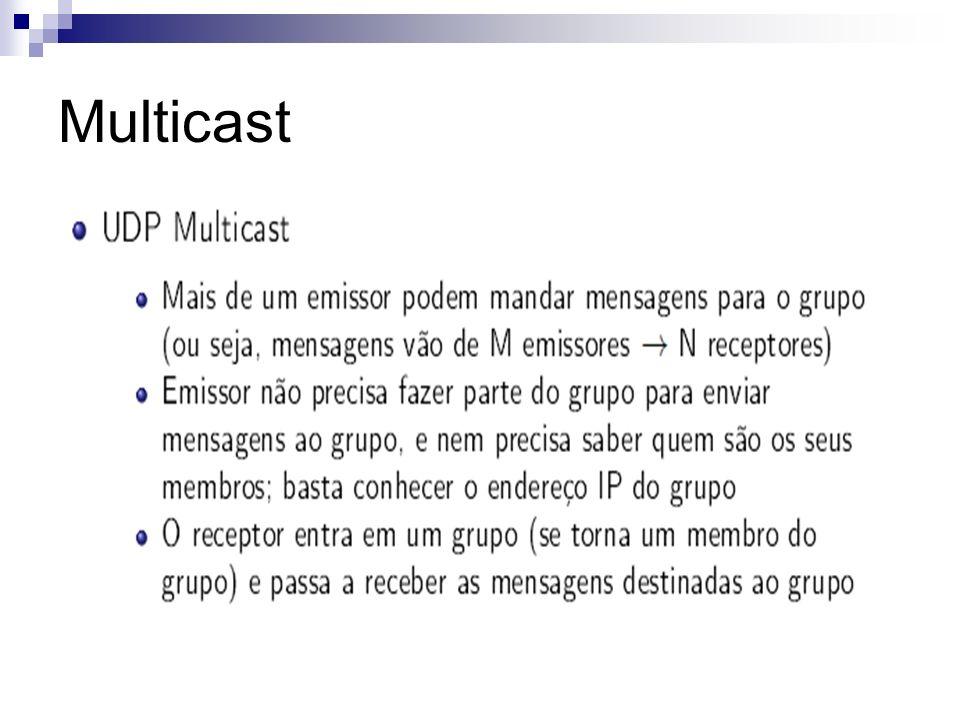 Multicast Multicast Confiável Solução 2: Manter esquema da solução 1, alterando o reconhecimento de mensagens.