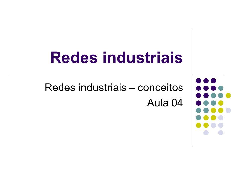 Redes industriais Redes industriais – conceitos Aula 04