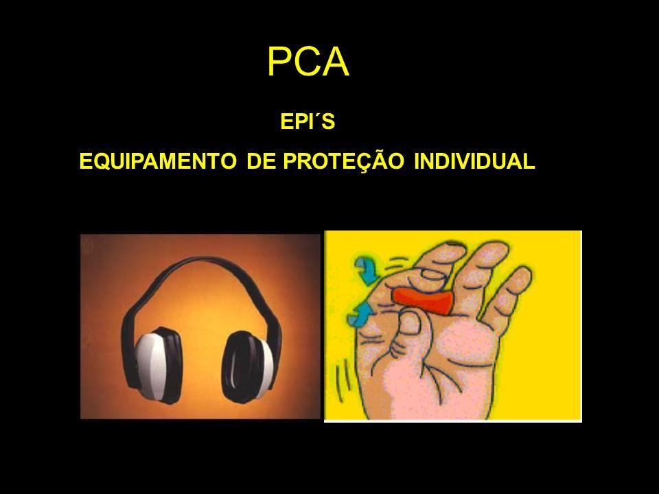 EPI´S EQUIPAMENTO DE PROTEÇÃO INDIVIDUAL PCA