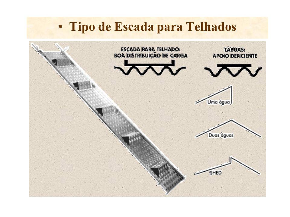 Uso indicado pela norma NR 18.18.1 do Ministério do Trabalho Única forma de andar com segurança em telhado do tipo plano inclinado (uma água, duas águ