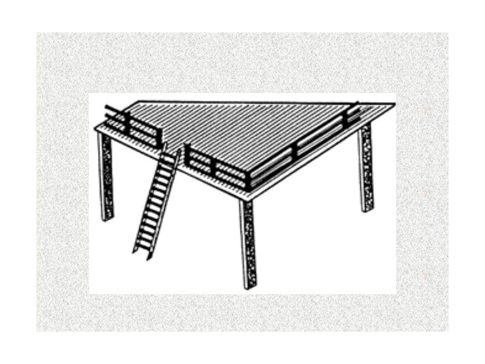 Necessidade de montagem de passarelas, escadas (figura 1), guarda-corpos (figura 2) ou estruturas sobre o telhado para facilitar manutenção de telhas,