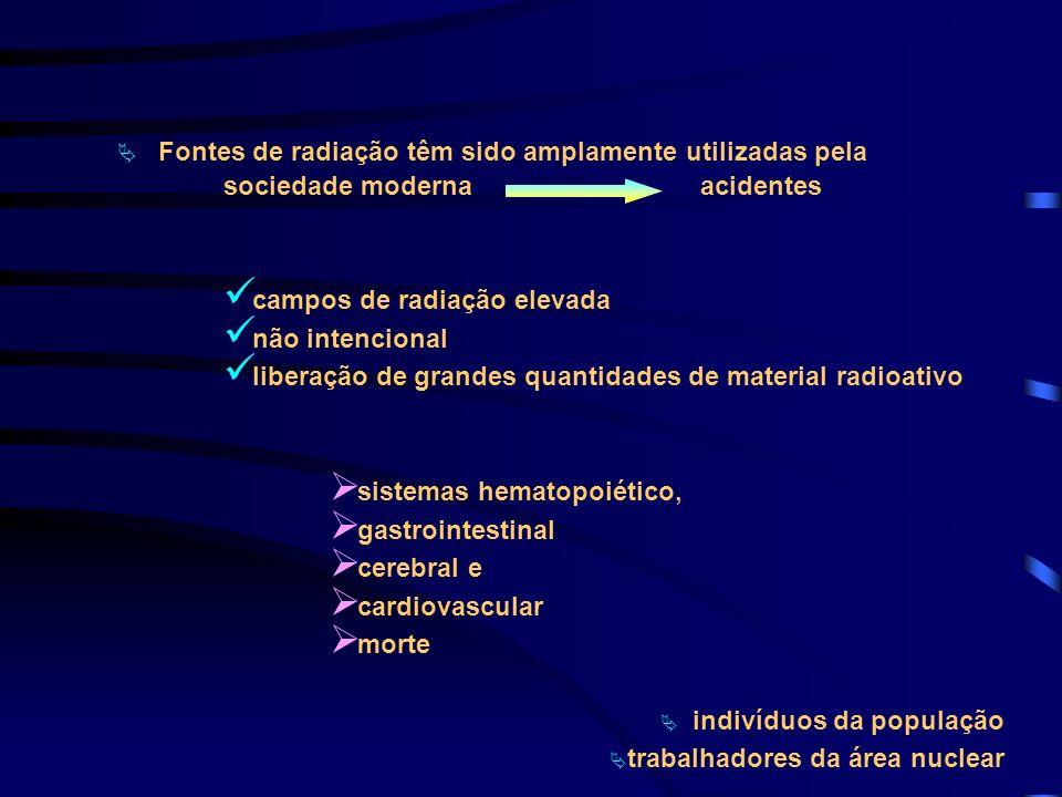 Fontes de radiação têm sido amplamente utilizadas pela sociedade moderna acidentes campos de radiação elevada não intencional liberação de grandes qua