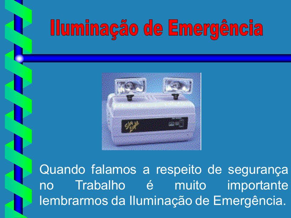 Quando falamos a respeito de segurança no Trabalho é muito importante lembrarmos da Iluminação de Emergência.