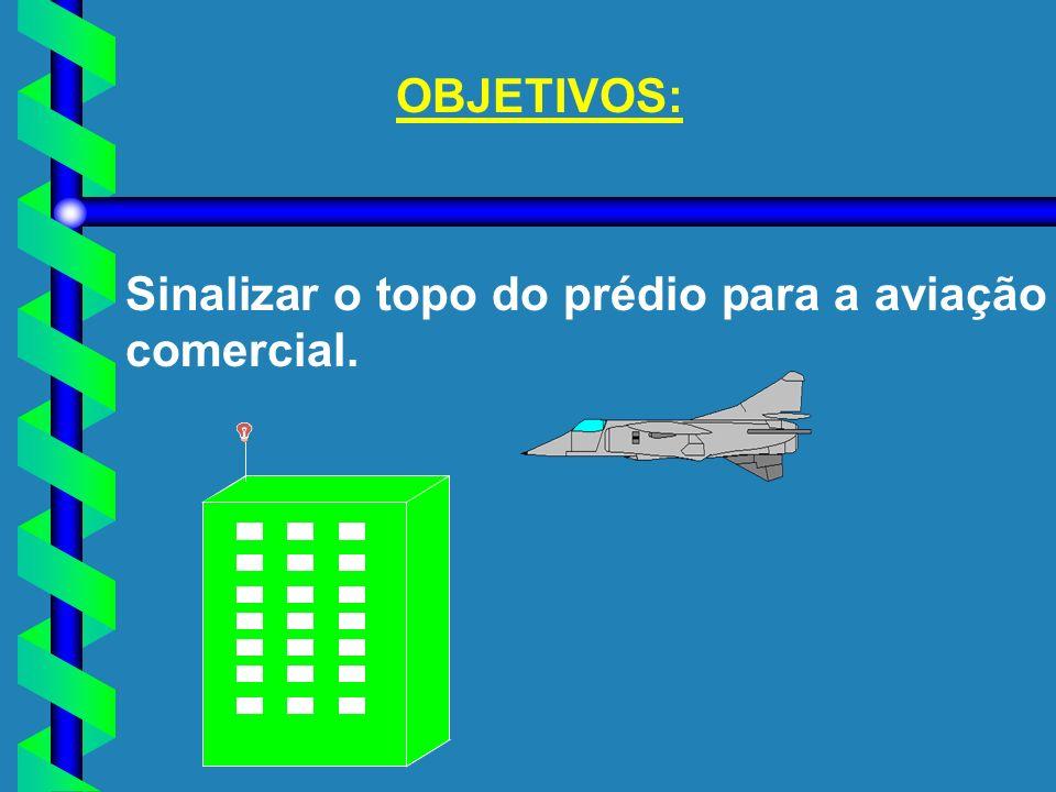 OBJETIVOS: Sinalizar o topo do prédio para a aviação comercial.