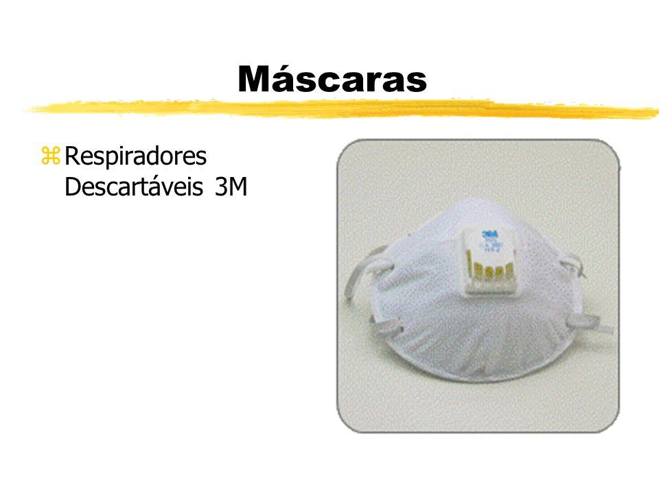 Máscaras zRespiradores Descartáveis 3M