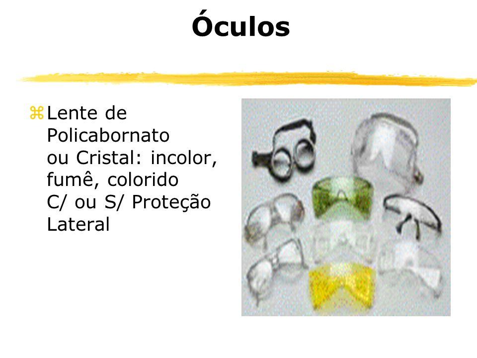 Óculos zLente de Policabornato ou Cristal: incolor, fumê, colorido C/ ou S/ Proteção Lateral