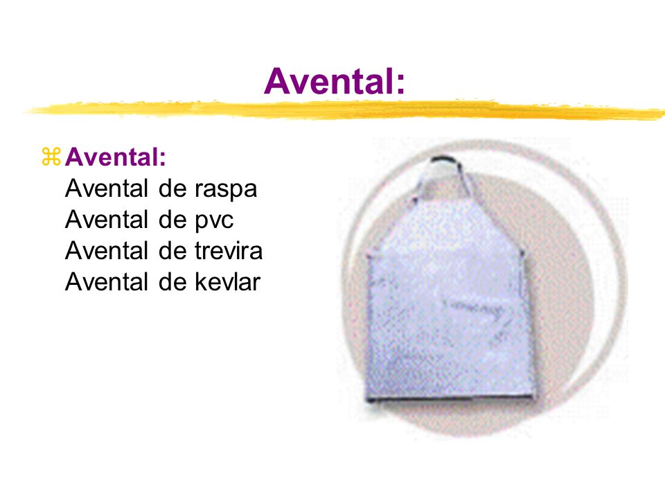 Avental: zAvental: Avental de raspa Avental de pvc Avental de trevira Avental de kevlar