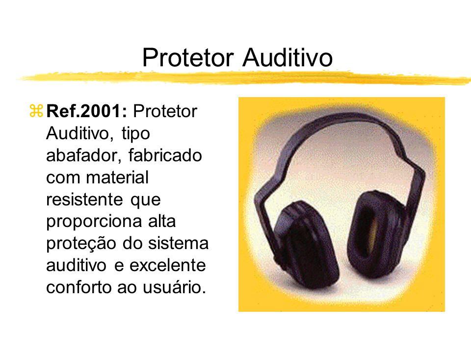 Protetor Auditivo zRef.2001: Protetor Auditivo, tipo abafador, fabricado com material resistente que proporciona alta proteção do sistema auditivo e excelente conforto ao usuário.