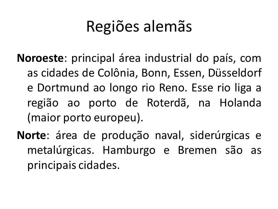 Sul: área de expansão industrial, com a instalação de industrias de alta tecnologia (informática, aeroespacial e bioquímica).