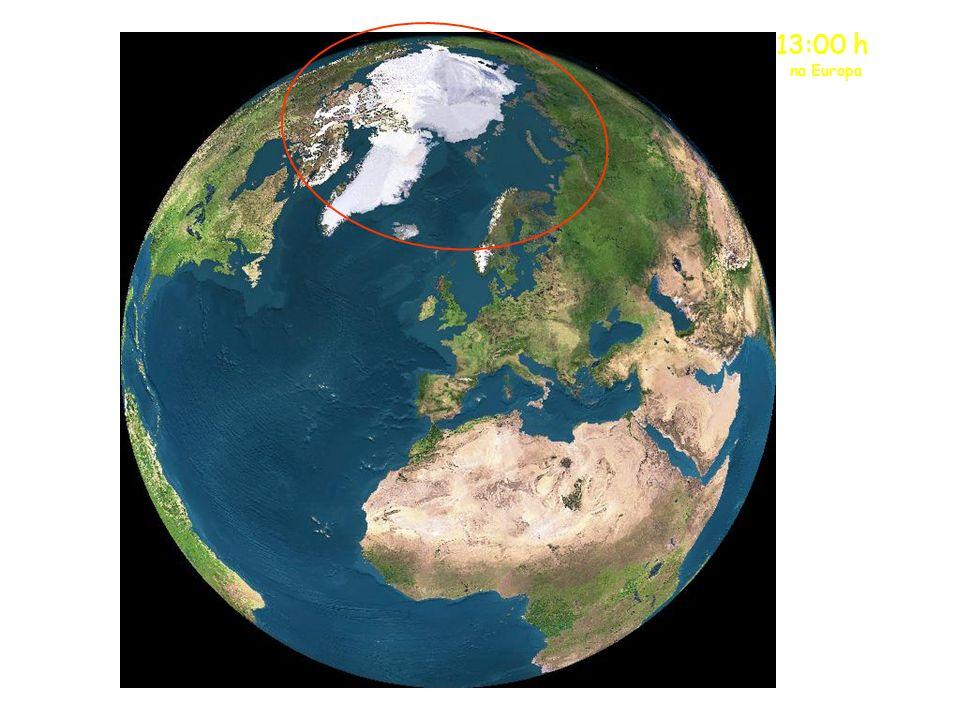Meia-Noite na Europa O sol da meia-noite está agora sobre a parte norte da Escandinávia.