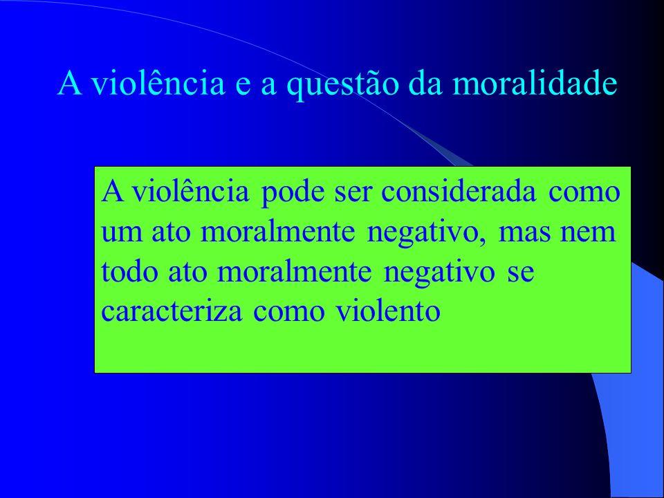 Violência: conotação pejorativa Horroriza Constrange Envergonha Inquieta Aterroriza Revolta