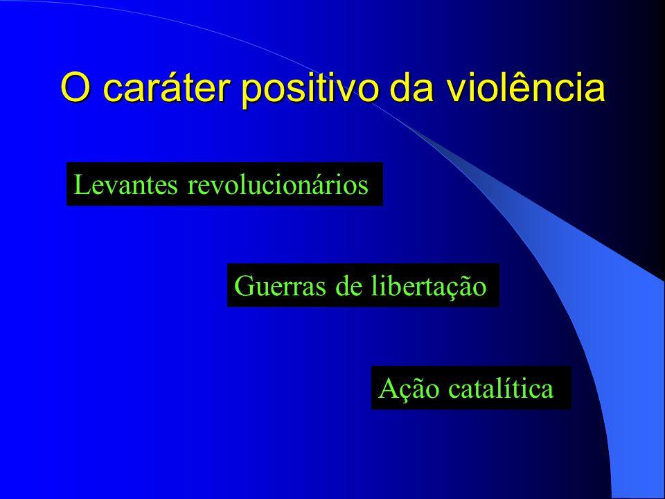 Violência e poder O poder da violência nem sempre se traduz em violência do poder Existem formas de poder que são exercidas de maneira não violenta