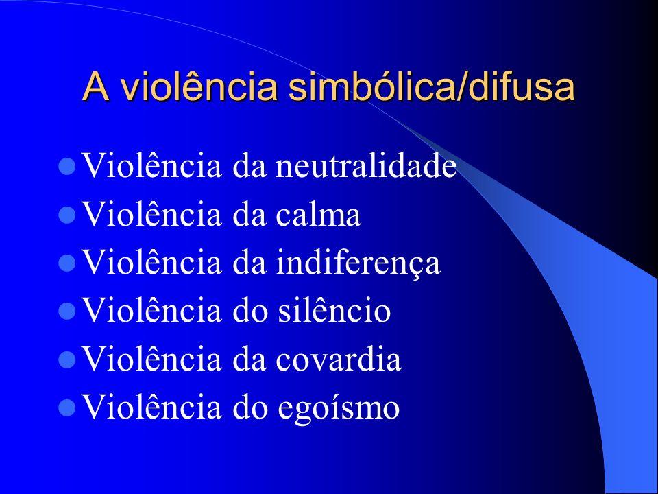 A questão é: Por que somos tão instáveis em nossas formas de compreensão e em nossas atitudes de reprovação da violência?