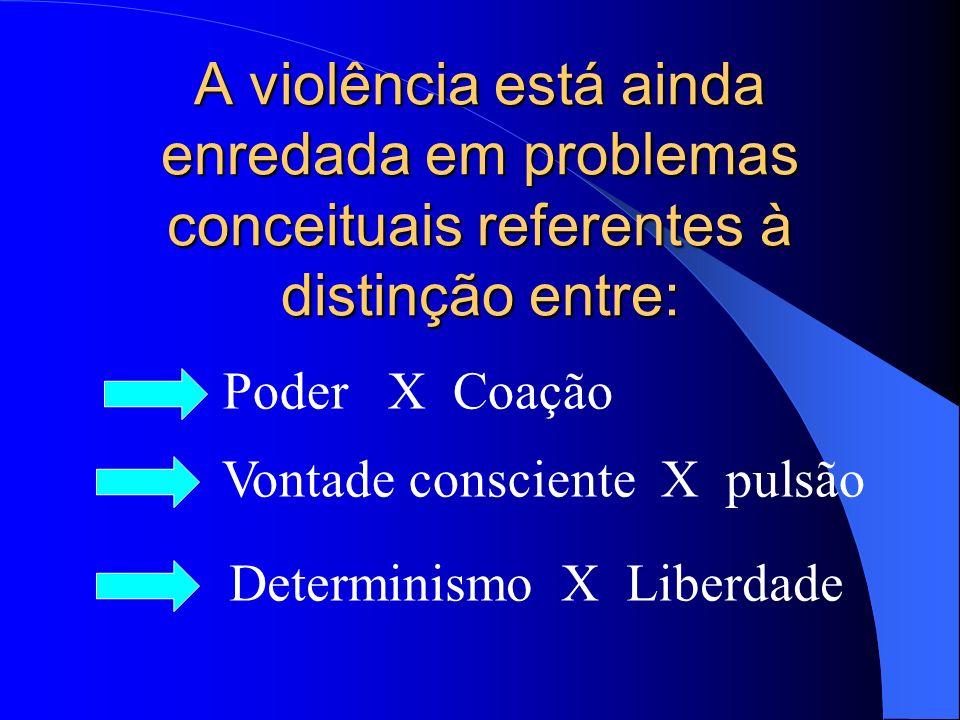 Violência Sociologia: causas e efeitos da violência urbana. Antropologia: ritos e manifestações da violência em diversas comunidades Psicologia: a vio