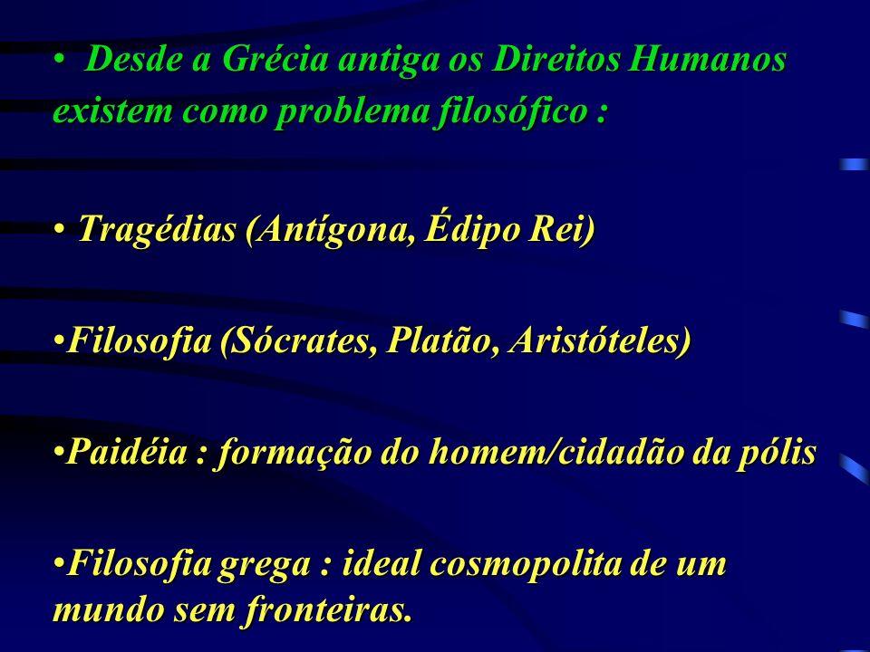 Os pressupostos filosóficos filosóficos dos dos direitos humanos