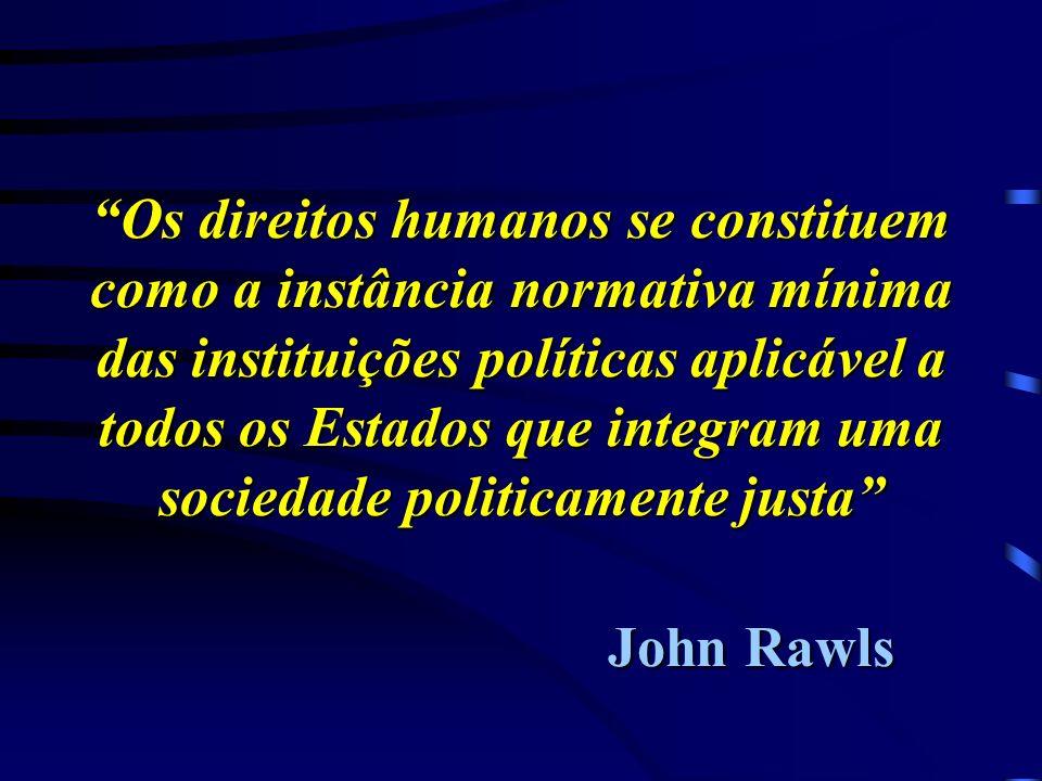 Direitos humanos : situação paradoxal Conflito entre valores universais, textos legais e práticas político-jurídicas. Ampliação dos direitos civis, po