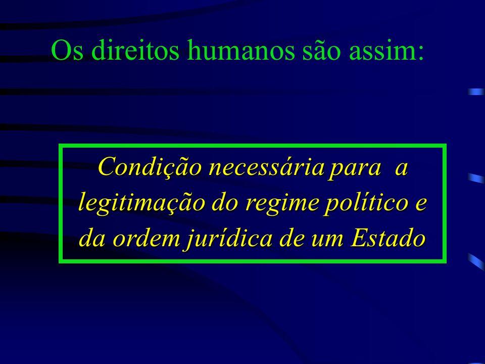 Os direitos humanos se constituem como a instância normativa mínima das instituições políticas aplicável a todos os Estados que integram uma sociedade