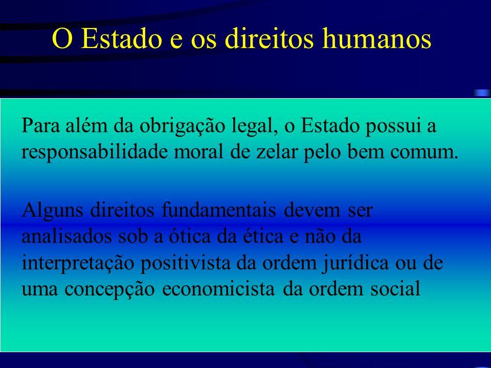 A questão dos direitos humanos é indissociável do problema referente à origem, natureza e constituição do Estado