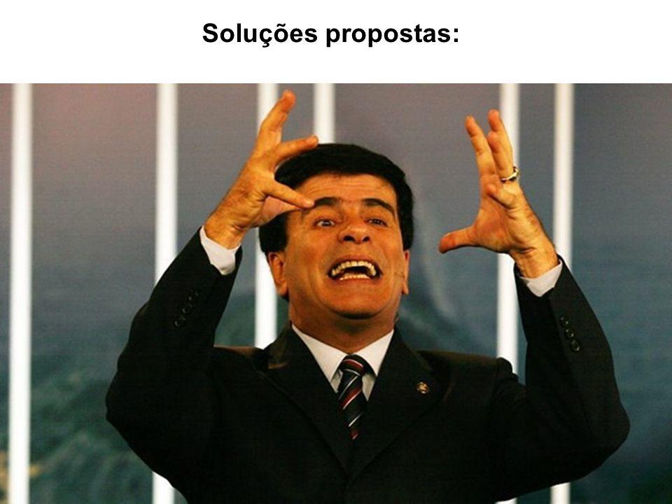 Soluções propostas: