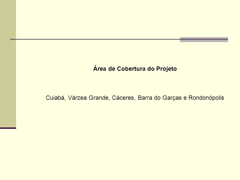 Área de Cobertura do Projeto Cuiabá, Várzea Grande, Cáceres, Barra do Garças e Rondonópolis
