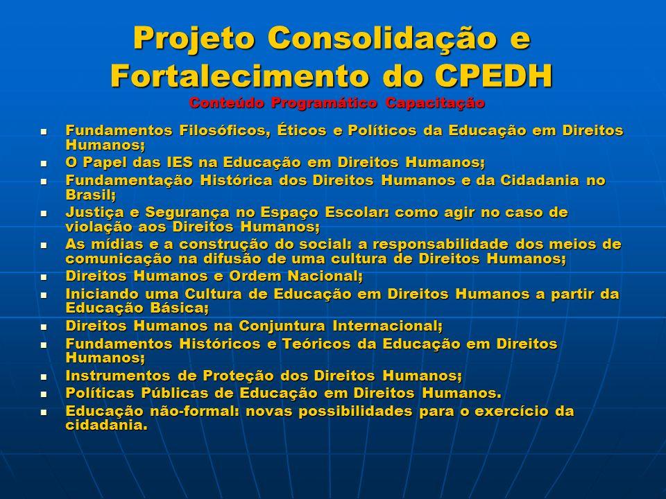Contatos Comitê Paraibano de Educação em Direitos Humanos Endereço: Campus I da UFPB, na Central de Aulas, Bloco A - João Pessoa – PB.