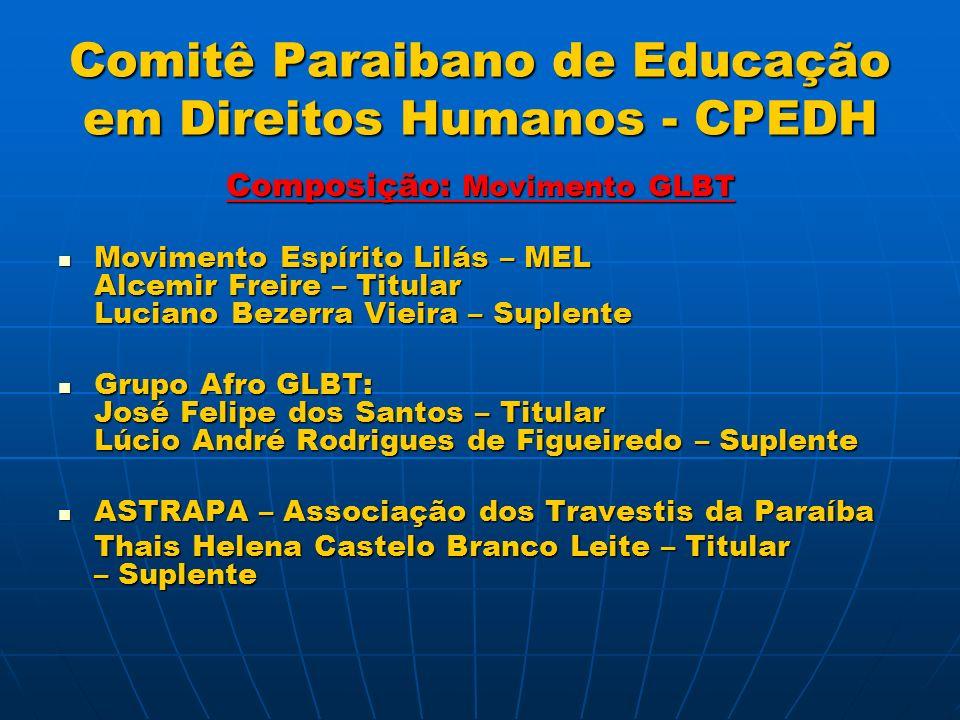 Comitê Paraibano de Educação em Direitos Humanos - CPEDH REGIMENTO GERAL DO COMITÊ PARAIBANO DE EDUCAÇÃO EM DIREITOS HUMANOS CAPÍTULO I DO COMITÊ PARAIBANO DE EDUCAÇÃO EM DIREITOS HUMANOS E SEUS OBJETIVOS Art.