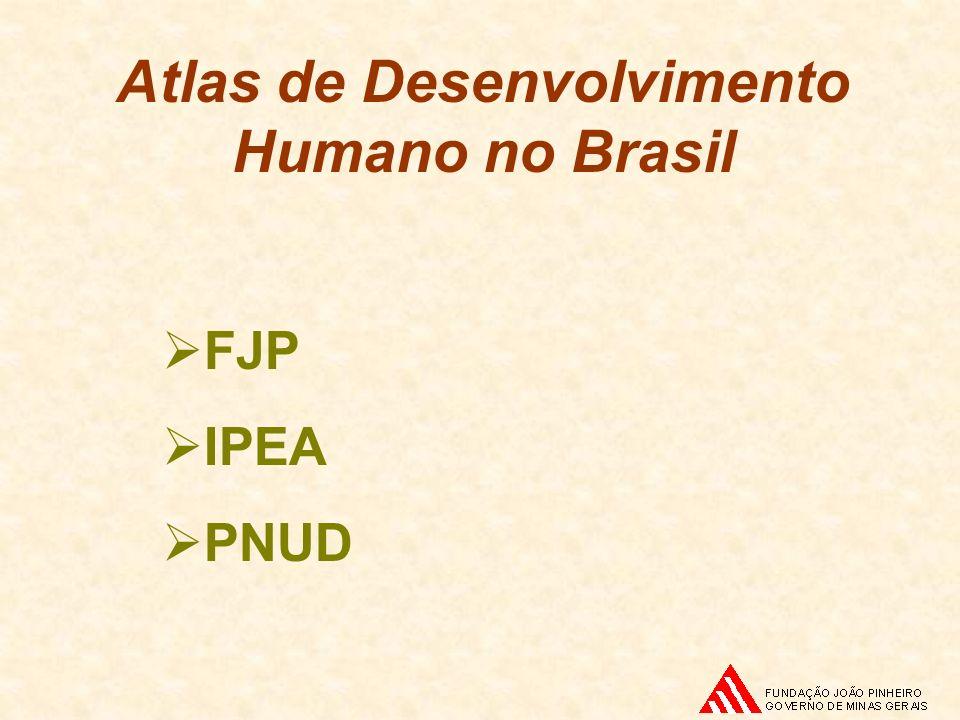 ATLAS DO DESENVOLVIMENTO HUMANO DO BRASIL População - total, urbana e rural Dados de populações de referência para os indicadores descritos anteriormente - faixas etárias - para indicadores específicos