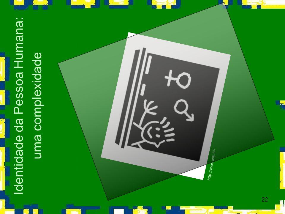 22 Identidade da Pessoa Humana: uma complexidade http://www.usp.br/