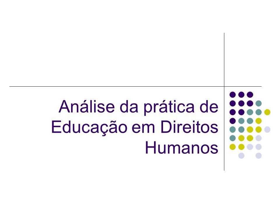 A relação entre Cotidiano, Fenômenos e Contextos A metodologia adequada à educação em direitos humanos é a educação popular inspirada no método Paulo Freire.