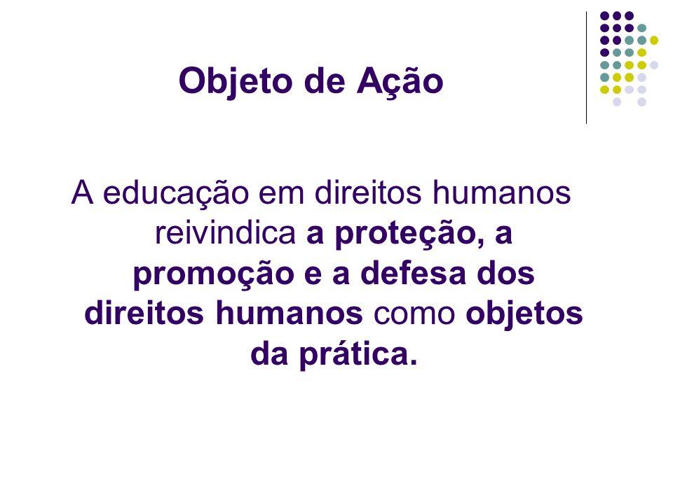 Resultados e Efeitos As ações educativas em direitos humanos não resultam em produção material, mas em produções subjetivas, atitudinais, culturais, sociais e políticas.
