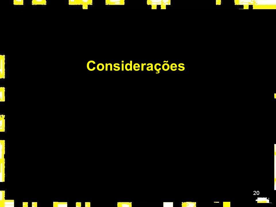 20 Considerações