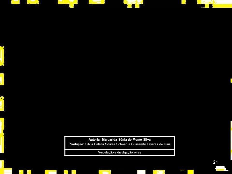 21 Autoria: Margarida Sônia do Monte Silva Produção: Sílvia Helena Soares Schwab e Guanambi Tavares de Luna Veiculação e divulgação livres