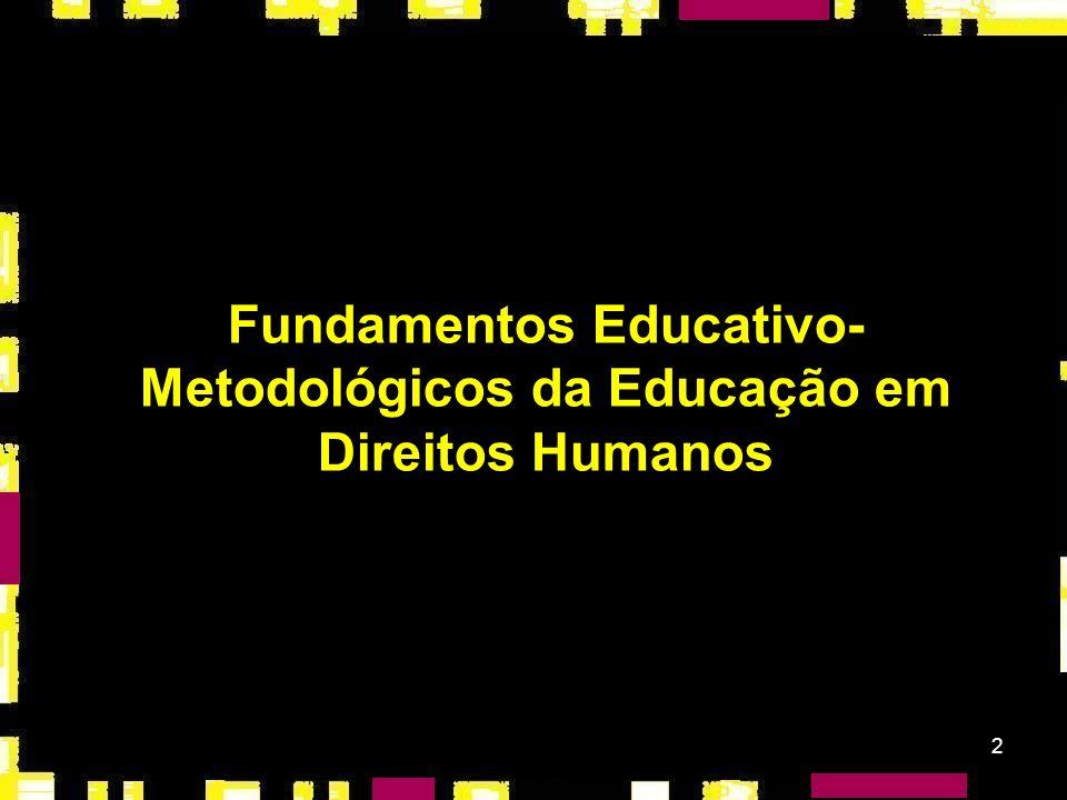 12 O direito à educação em direitos humanos: associado ao reconhecimento do direito à educação.