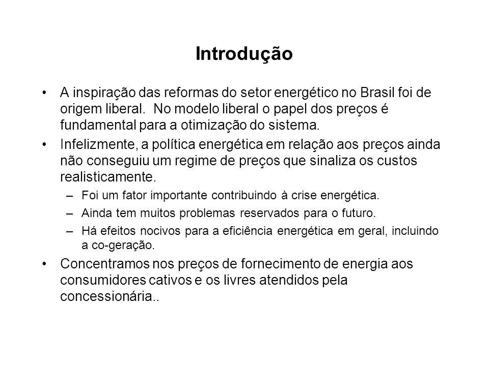 Introdução A inspiração das reformas do setor energético no Brasil foi de origem liberal. No modelo liberal o papel dos preços é fundamental para a ot