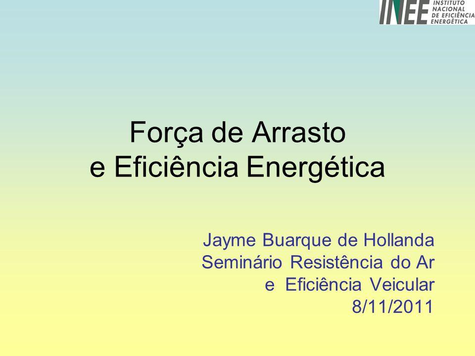 Força de Arrasto e Eficiência Energética Jayme Buarque de Hollanda Seminário Resistência do Ar e Eficiência Veicular 8/11/2011