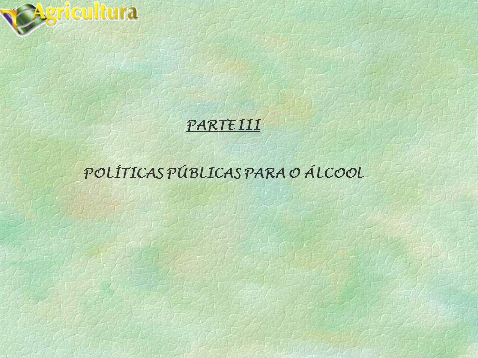 PARTE III POLÍTICAS PÚBLICAS PARA O ÁLCOOL